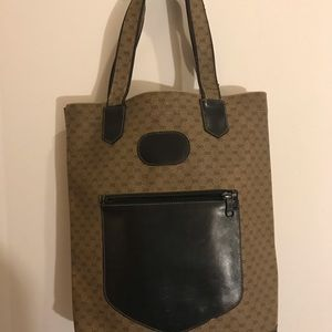 Vintage Authentic Gucci Tote Distressed 02-39-1301